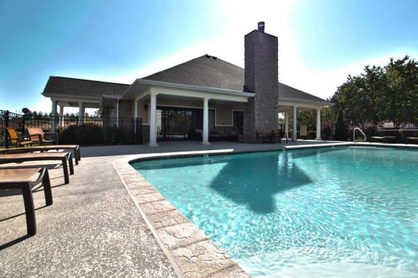 Large resident swimming pool at Aventura at Mid Rivers in Saint Charles, Missouri.