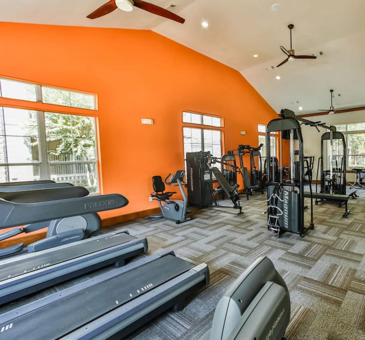 Fitness room at Stone Creek at The Woodlands in The Woodlands, Texas