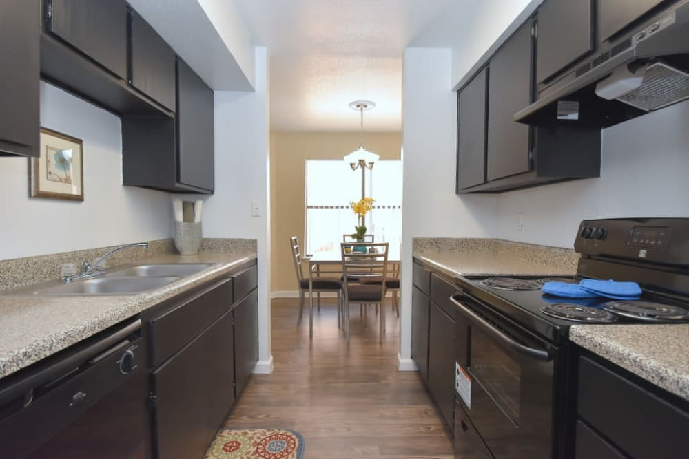 Upgraded kitchen at Green Meadows Apartments