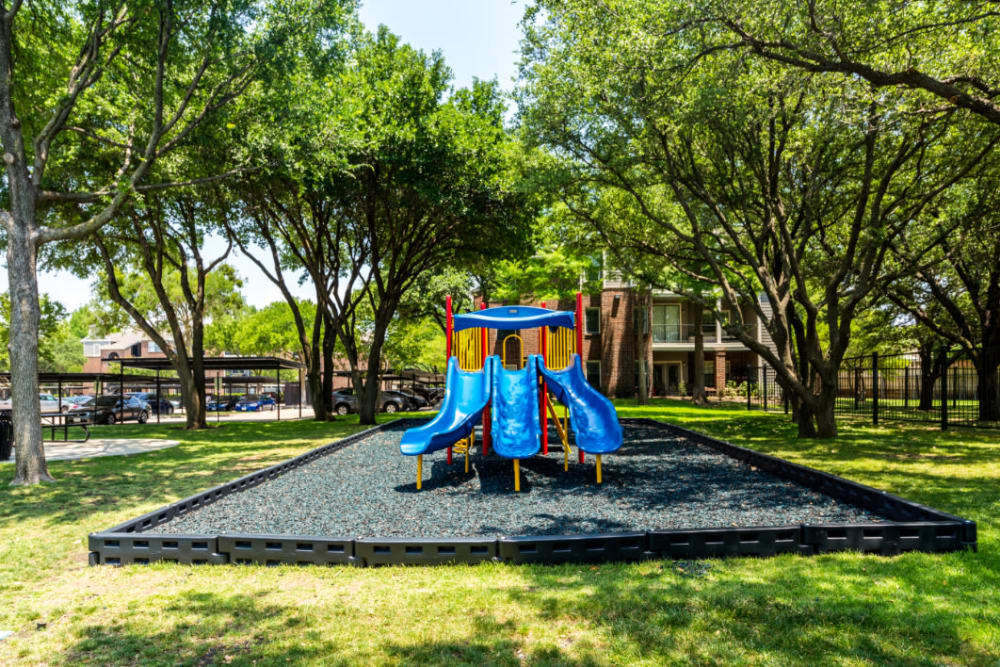 Outdoor children's playground at Marquis at Legacy in Plano, Texas