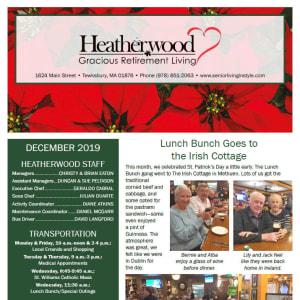 December Heatherwood Gracious Retirement Living Newsletter