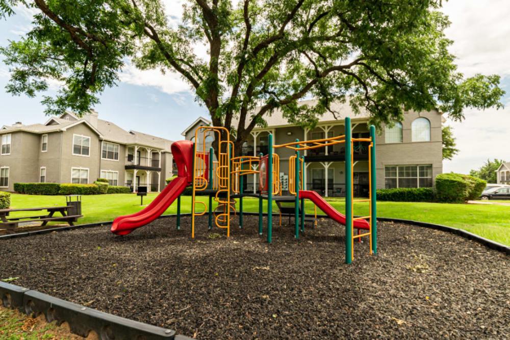 Children's playground area at Marquis at Lantana in Flower Mound, Texas