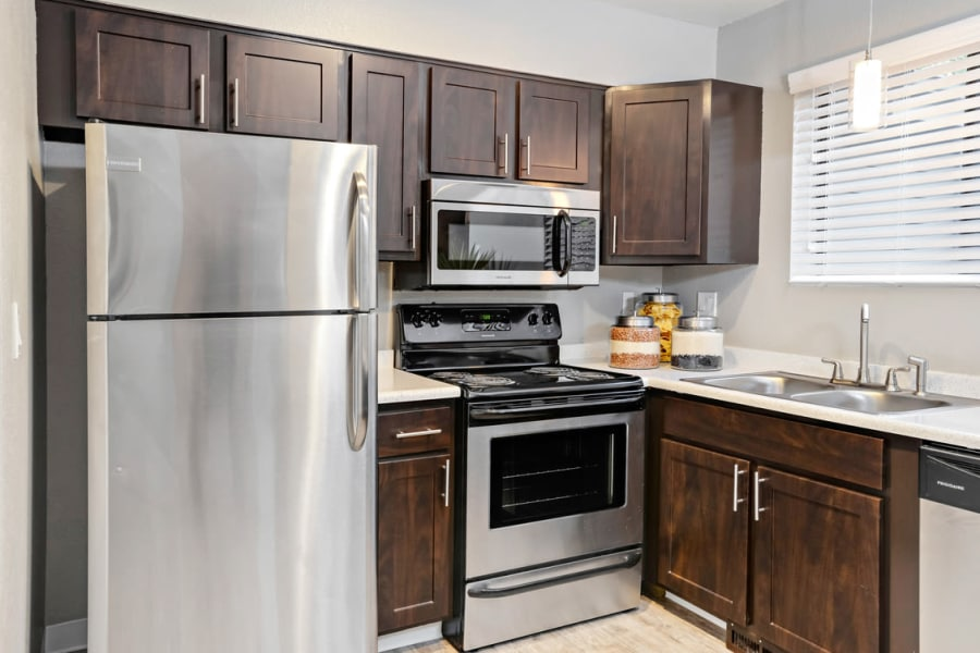 Environs Residential Rental Community offers a modern kitchen in Westminster, Colorado