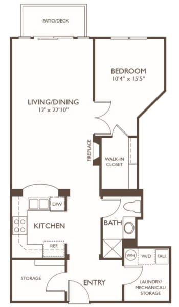 Independent Living One Bedroom III at Hillcrest of Loveland in Loveland, Colorado
