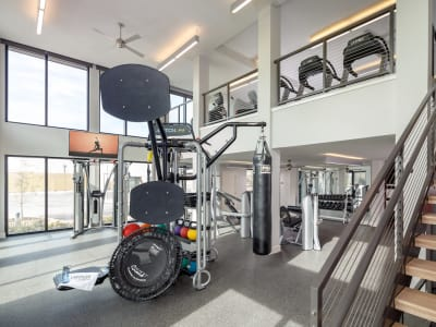 State-of-the-art gym at Latitude at Presidio in Cedar Park, Texas