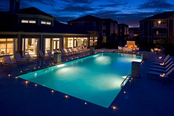 Large resident swimming pool at Plantation Crossing in Lafayette, Louisiana.
