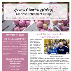 September Scholl Canyon Estates Newsletter