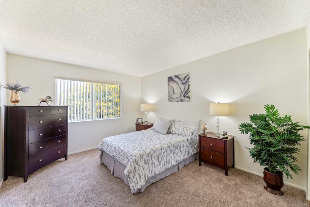 Master bedroom at The Parkview in Lake Balboa, CA