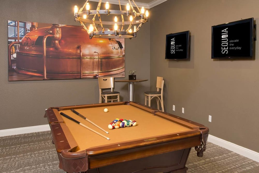 Billiards table at River Oaks Apartment Homes in Vacaville, California