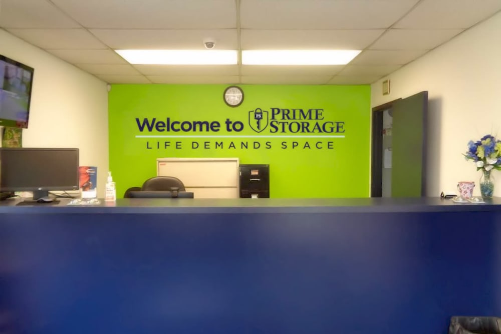Front desk at Prime Storage in Fairless Hills, PA