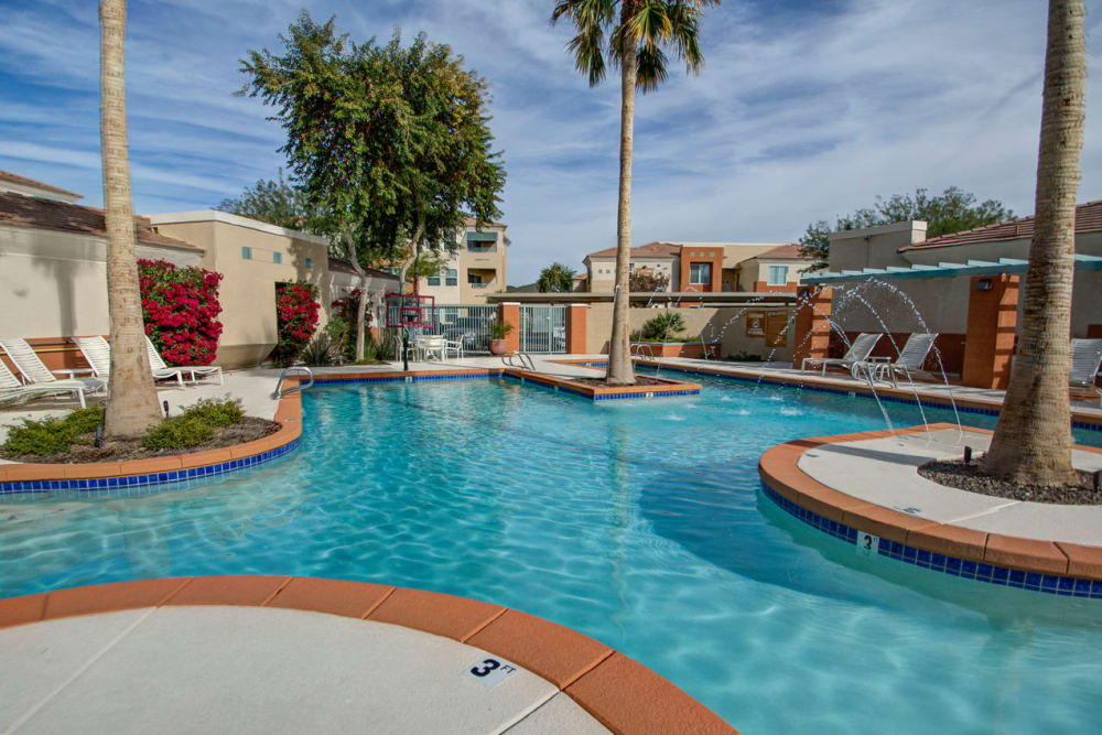Pool view at Sage Luxury Apartment Homes in Phoenix, Arizona
