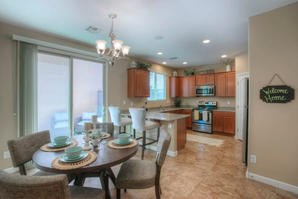 Kitchen and dining room at BB Living at Higley Park in Gilbert, Arizona