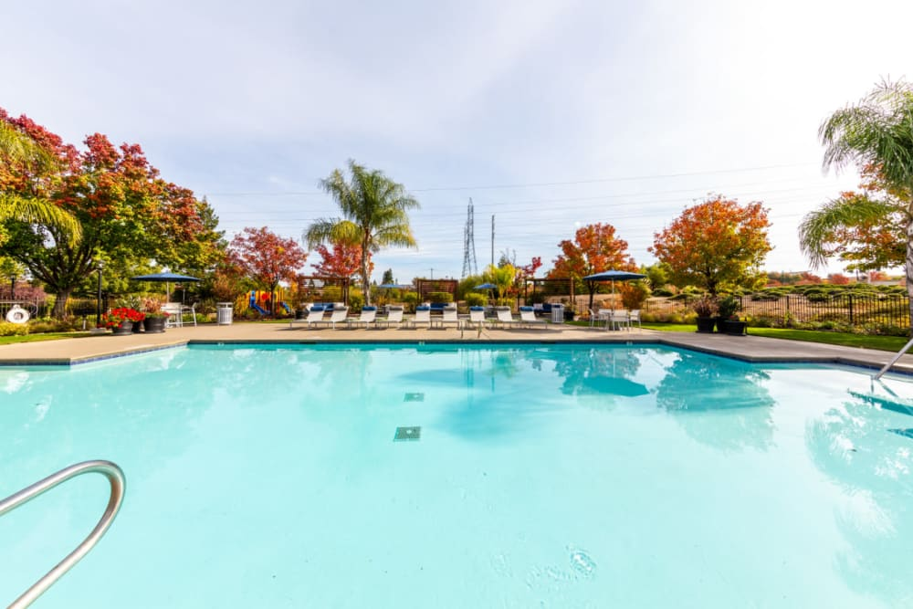 Sparkling pool at The Fairmont at Willow Creek in Folsom, California