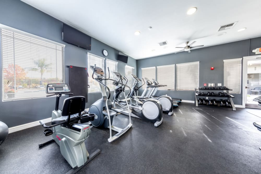 Fitness center for residents at The Fairmont at Willow Creek in Folsom, California