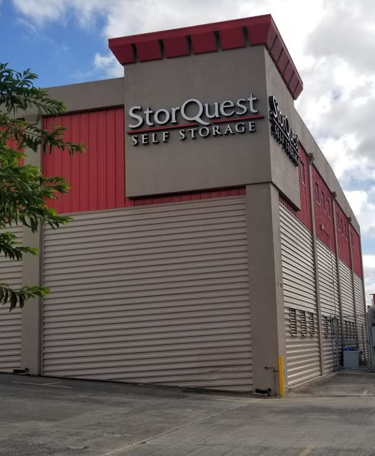 The facade of StorQuest Self Storage in Waipahu, Hawaii