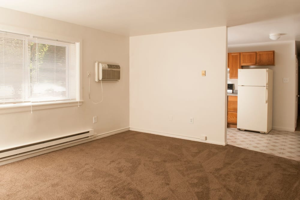 Open living room at Alpine Court East Apartments in Lindenwold, New Jersey