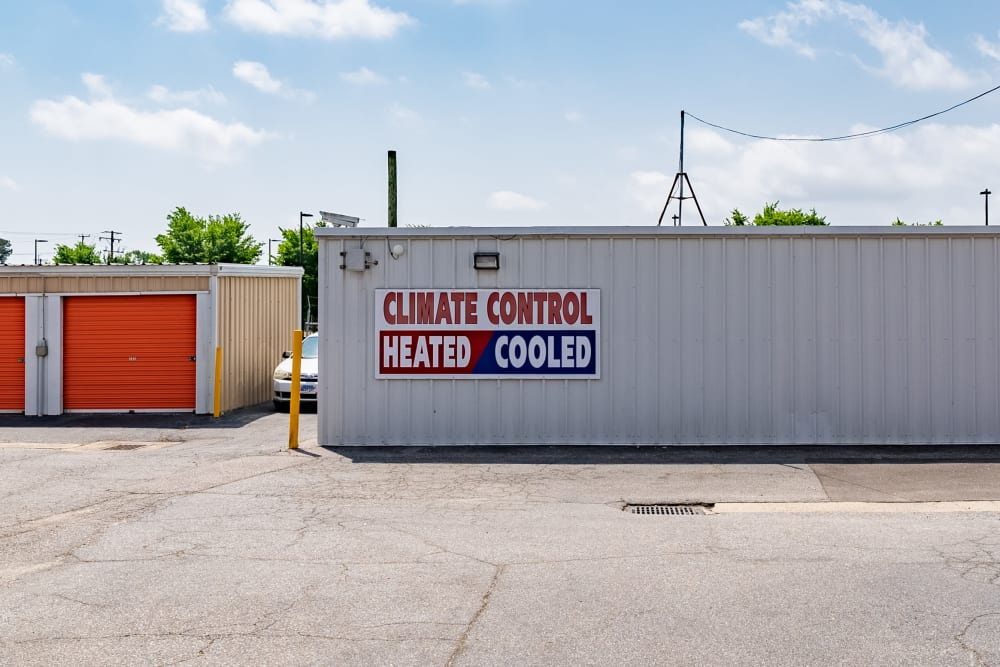 A sign advertising that we have climate-controlled storage in Virginia Beach, Virginia