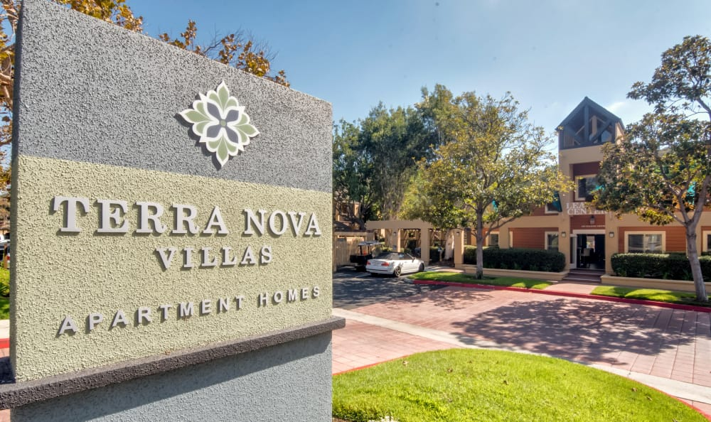 Entrance Sign at Terra Nova Villas in Chula Vista, CA
