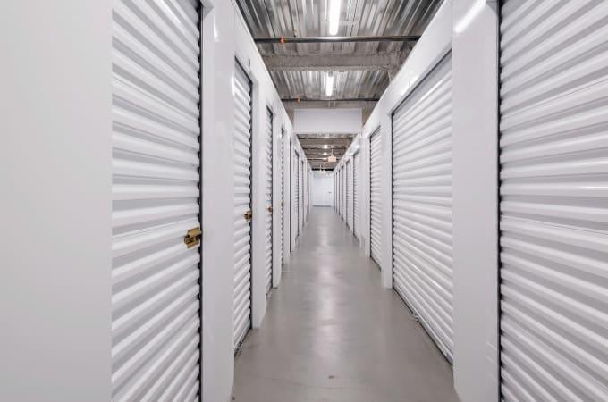 Self storage building exterior in Paramount, CA