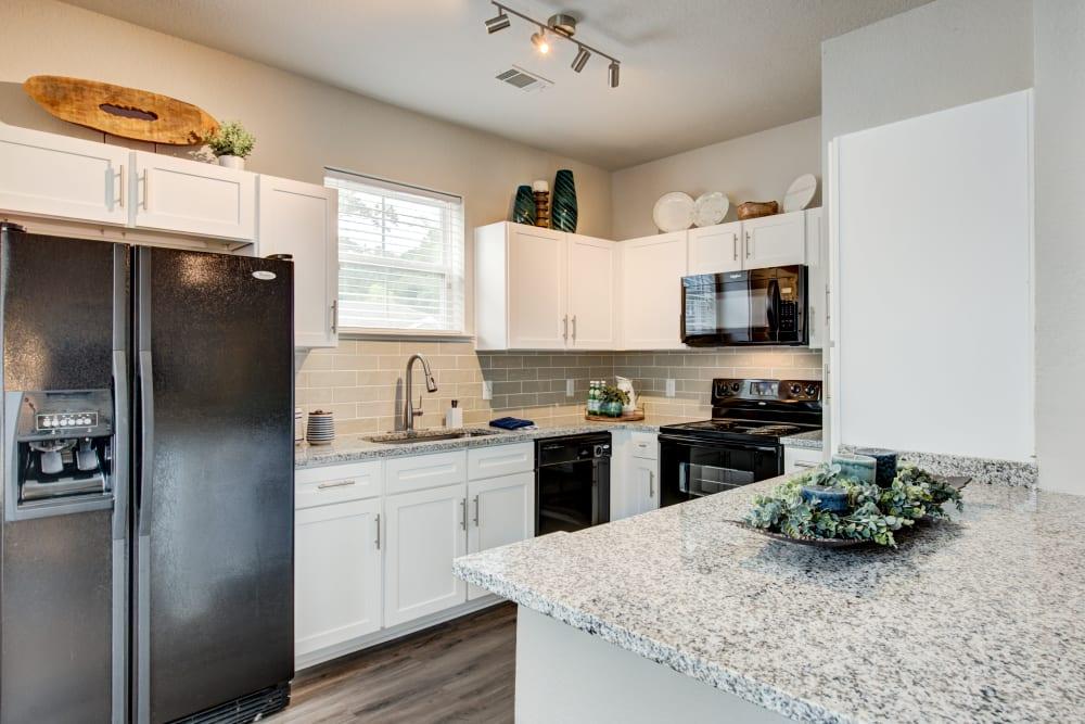 Large modern kitchen at Ingleside Apartments in North Charleston, South Carolina