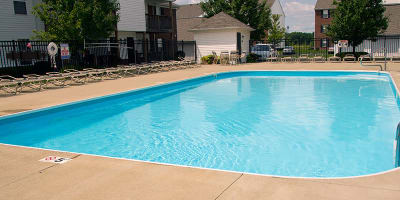 Swimming pool at apartments in Groveport, Ohio