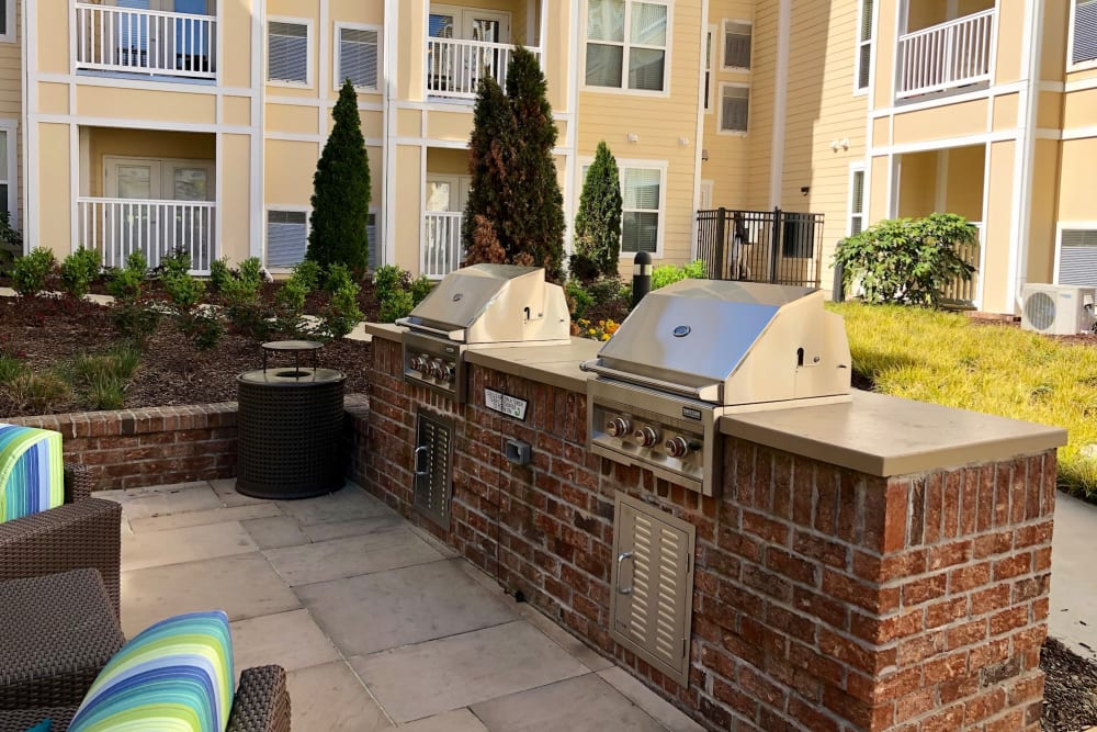 Outdoor grills at Level at 401 in Raleigh, North Carolina