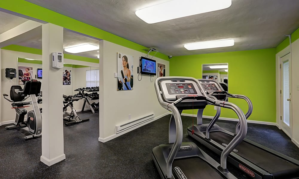 Renovated fitness center at Eatoncrest Apartment Homes in Eatontown, New Jersey
