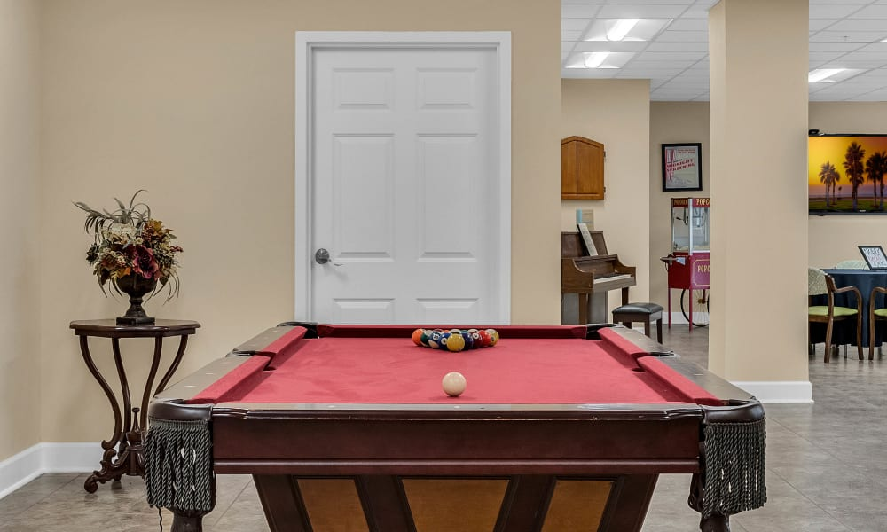 Pool table at {location_name}} in Brooksville, Florida
