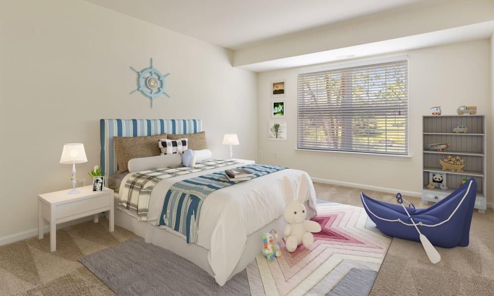 Cozy bedroom at CiderMill Village