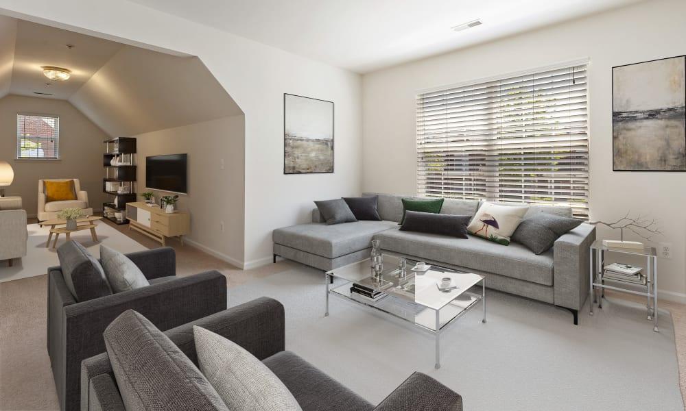 Beautiful living room at CiderMill Village