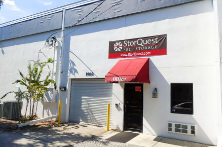 Store front at StorQuest Express - Self Service Storage in Tampa, FL
