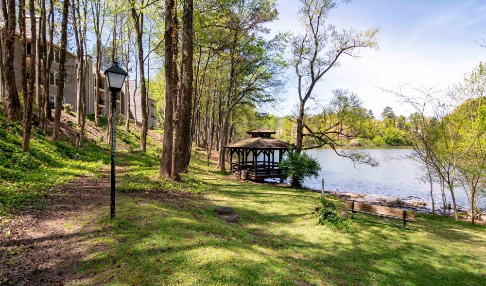 Beautiful pond near The Residences at Vinings Mountain in Atlanta, GA