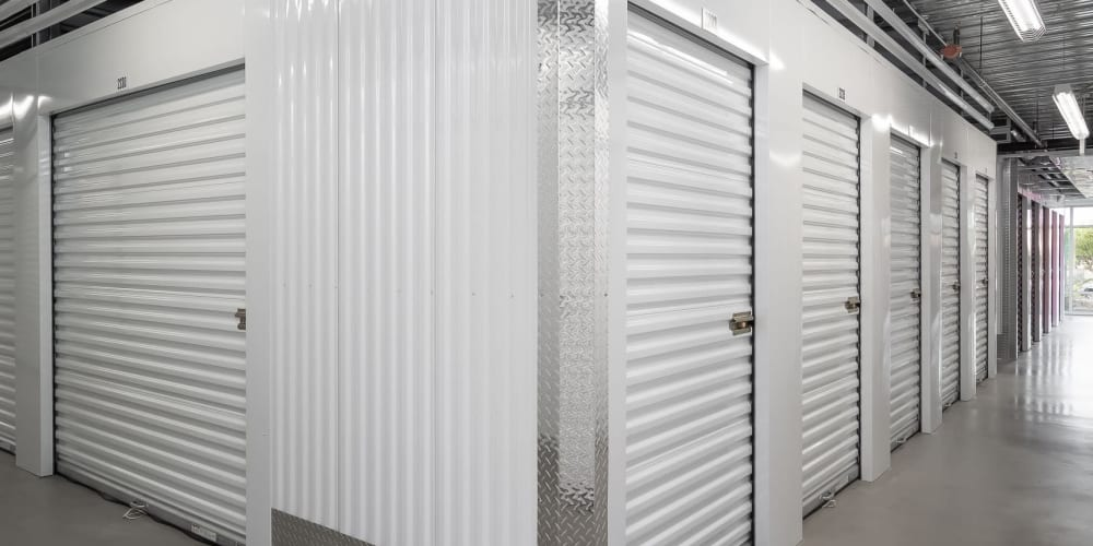 Indoor climate controlled units at StorQuest Self Storage in Miami, Florida