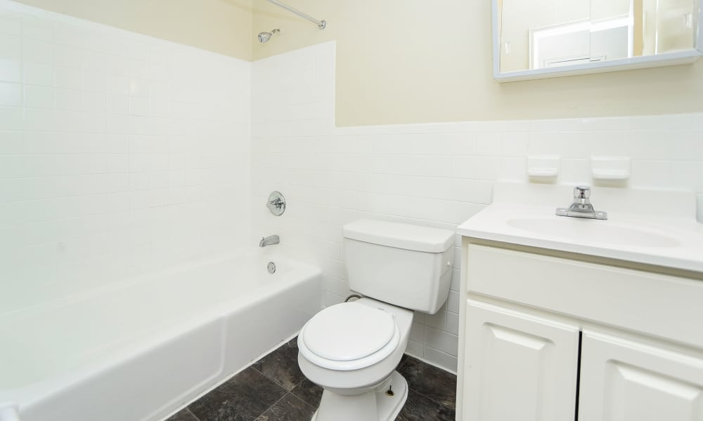 Bathroom at Post & Coach Apartment Homes
