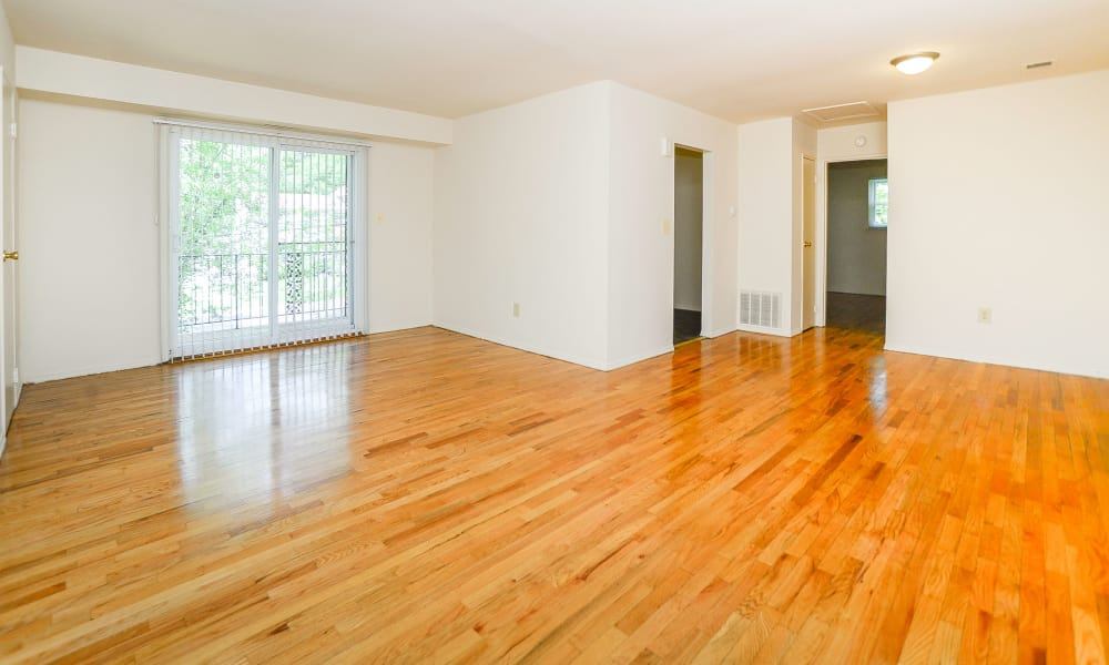 Beautiful Wood Floors at Post & Coach Apartment Homes
