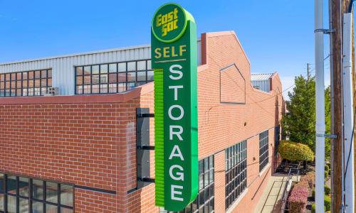 Storage Front sign at East Sac Self Storage in Sacramento, California