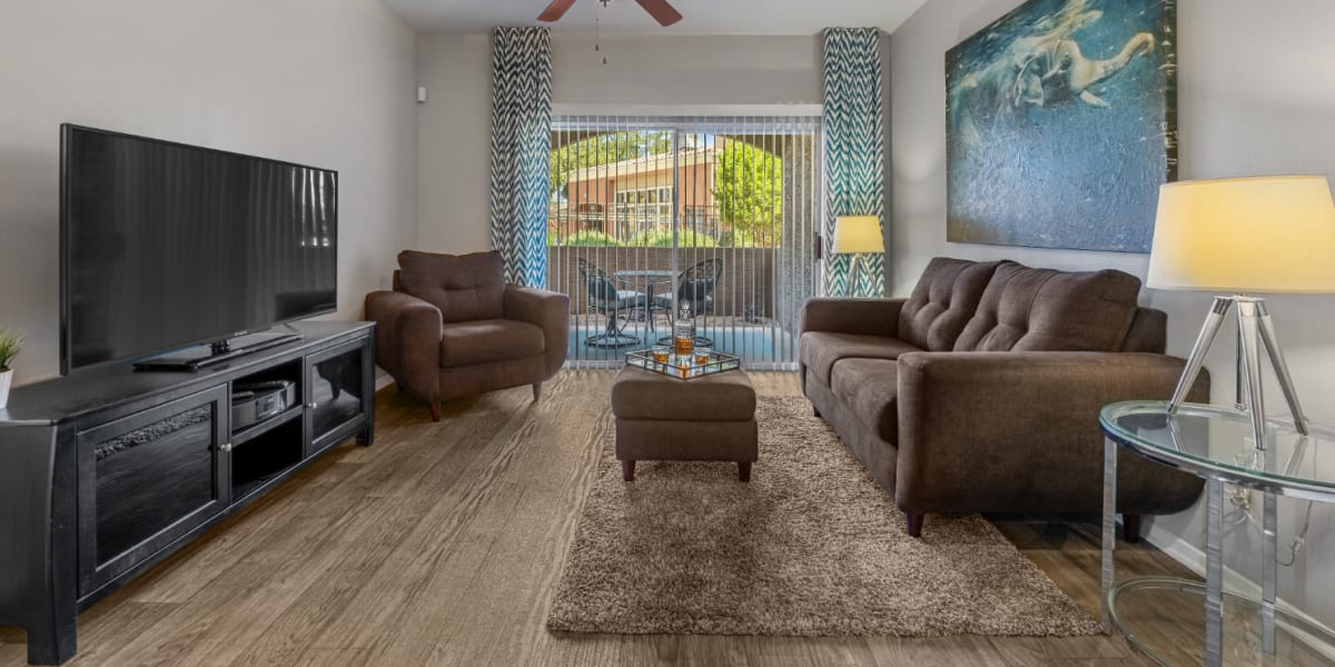 Living room at Alante at the Islands in Chandler, Arizona