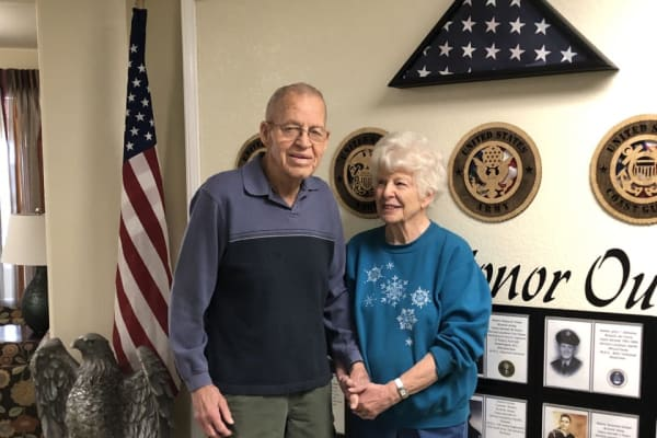 Frank Dooley and Mary Bowman at Paloma Landing Retirement Community in Albuquerque, New Mexico