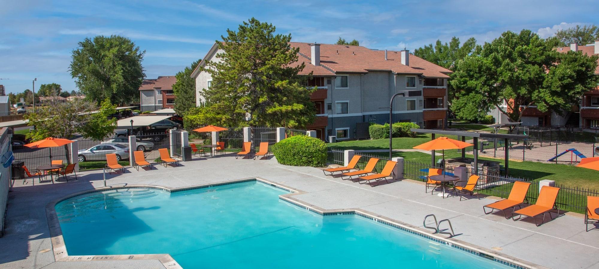 Pool Aerial in West Valley City, Utah at Shadowbrook Apartments