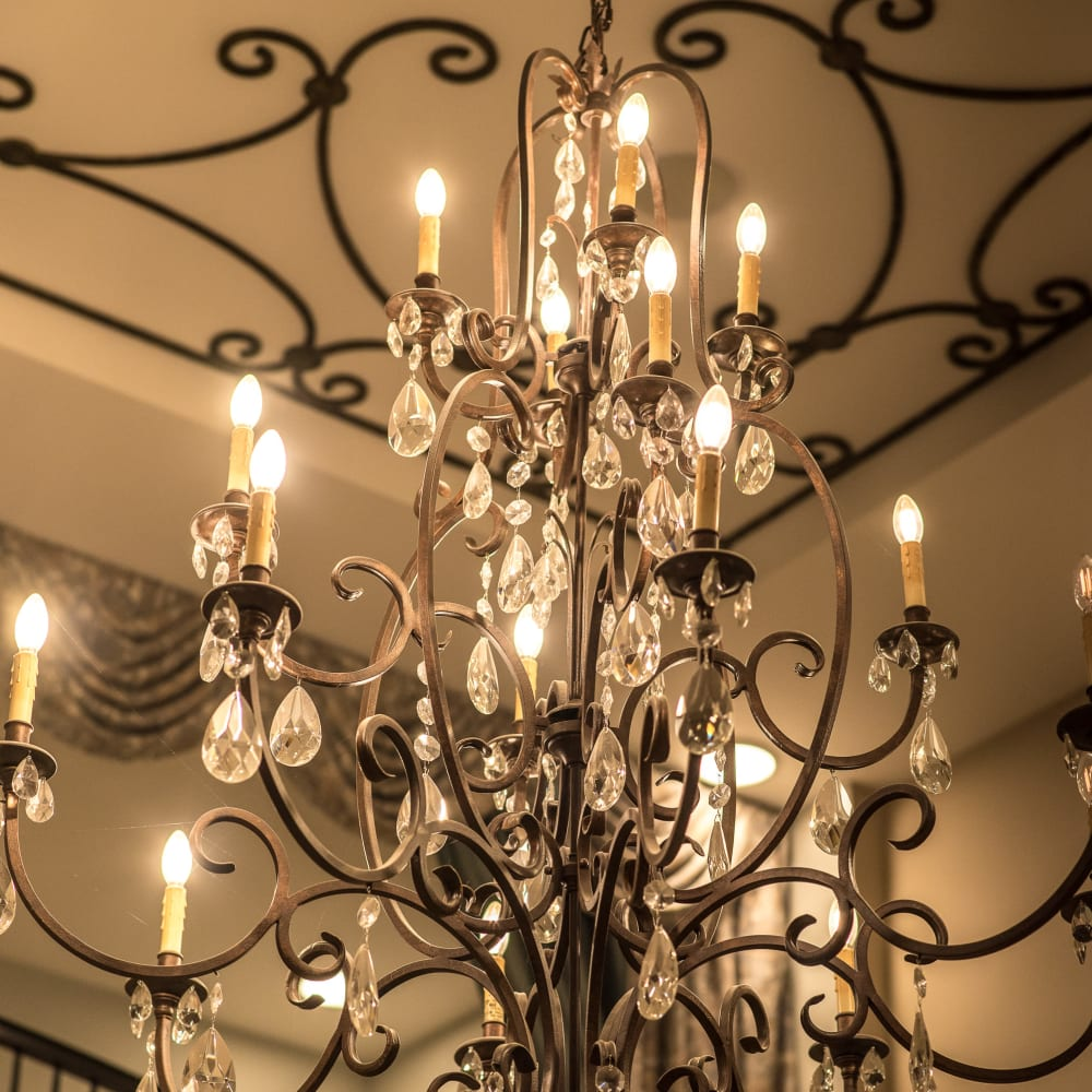 Chandelier at Inspired Living Sugar Land in Sugar Land, Texas.