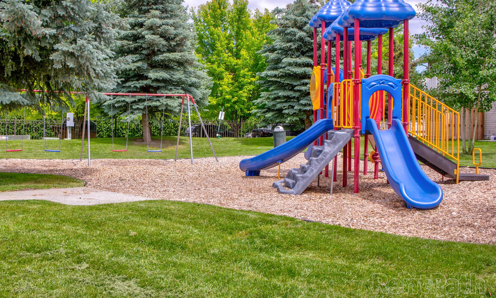 Mountain View Apartments offers a beautiful playground in Bozeman, Montana