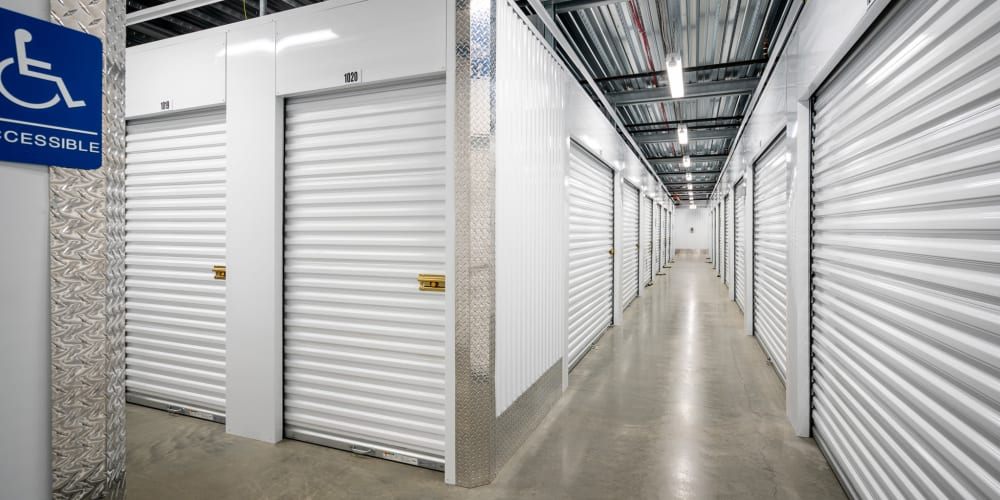 Indoor climate controlled units at StorQuest Self Storage in West Babylon, New York