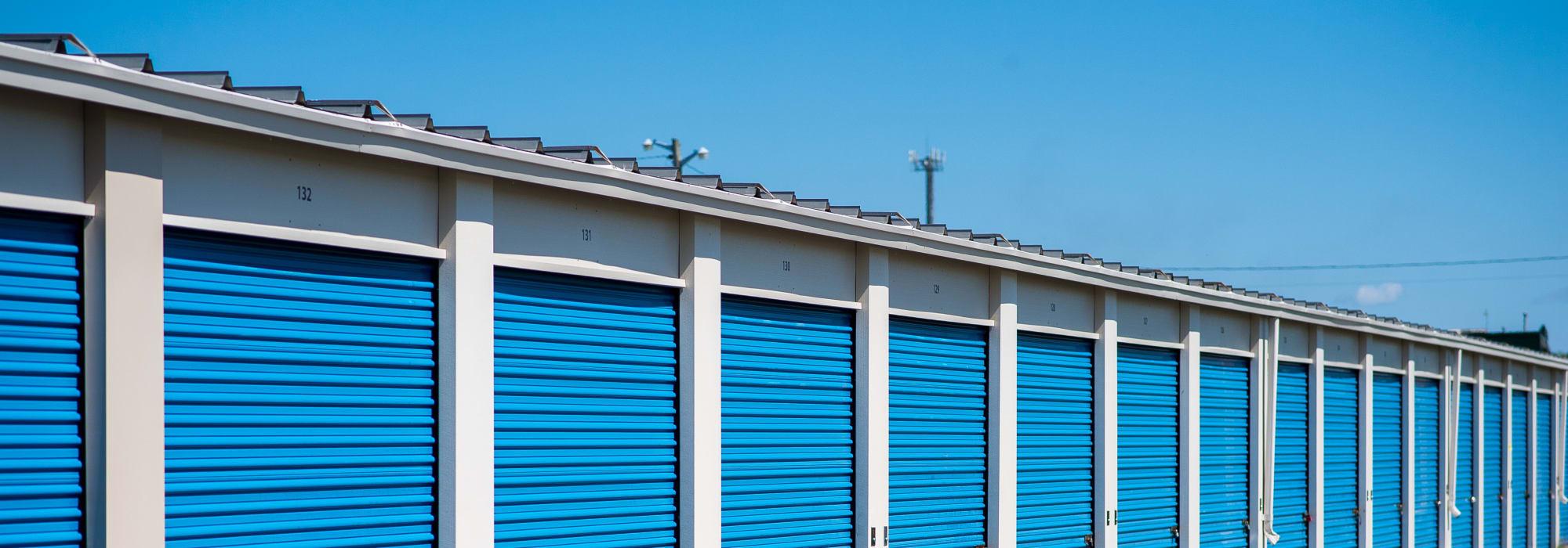 Storage units at Apple Self Storage - Saint John West in Saint John, New Brunswick