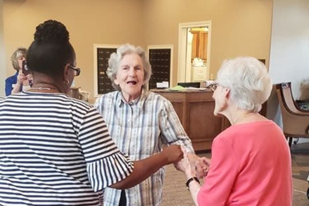 Residents dancing at Pelican Bay in Beaumont, Texas