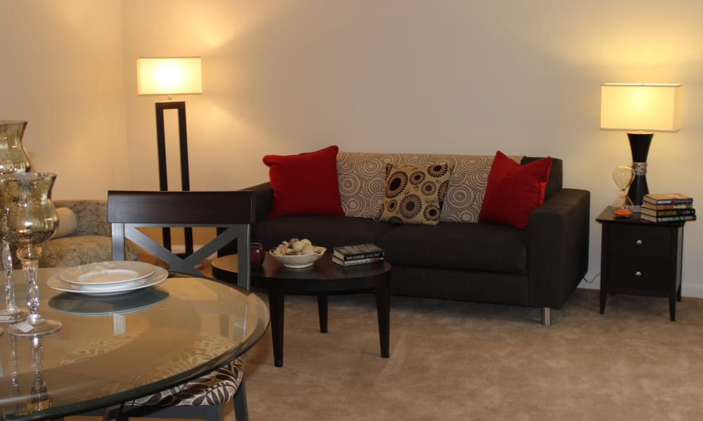 Cozy apartments with a living room at Curren Terrace in Norristown, Pennsylvania