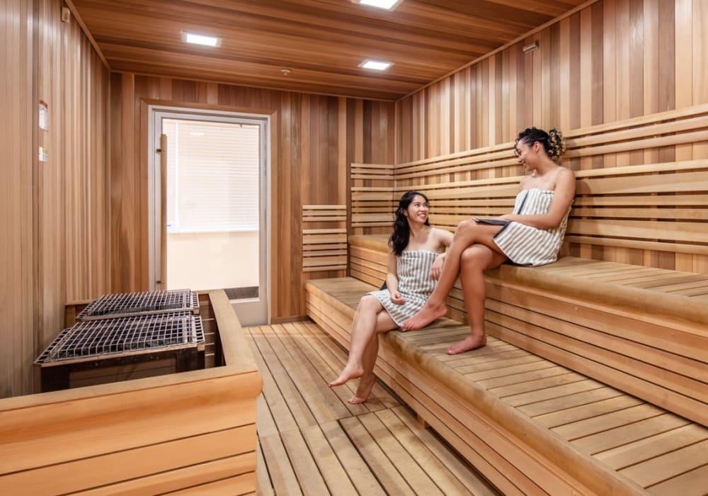 Community sauna at evolve Bloomington in Bloomington, Indiana