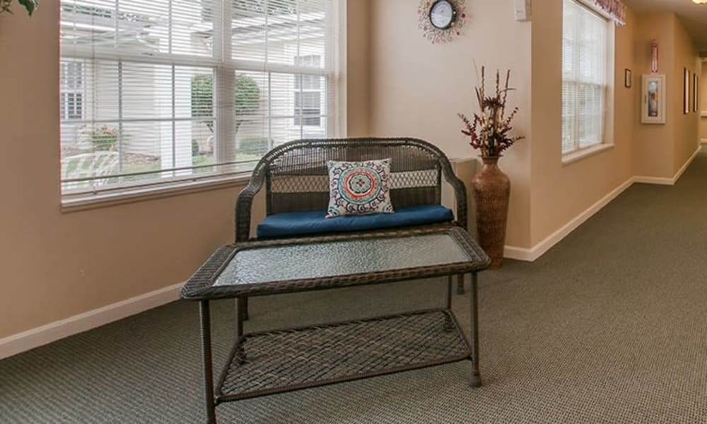 Sitting area by window at Randall Residence of Newark in Newark, Ohio