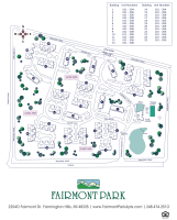 Printable floor plans at Fairmont Park Apartments in Farmington Hills, Michigan