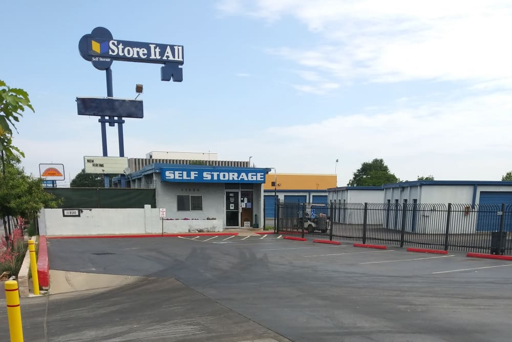 The sign in front of Store It All Self Storage - Airline in Houston, Texas