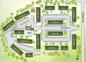 Printable site map image at Beech Meadow in Beech Grove, Indiana
